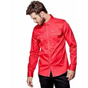 Camisa G By Guess Denberg Two-pocket Shirt Talla L Importada