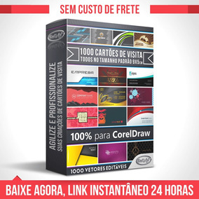 Vetores Para Corel Draw 1000 Modelos De Cartão De Visita