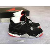 Tênis Nike Air Jordan 4 Bred Kobe Lebron