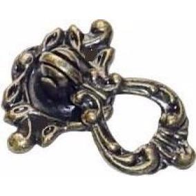 Puxador Colonial Bronze P Móveis Antigos Luiz Xv 8 Unidade