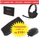 Hd Ssd Sandisk 120gb + Teclado + Headset + Mouse Gamer