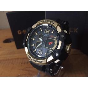 Relógio Masculino Gshock Dourado Digital E Analogico + Caixa