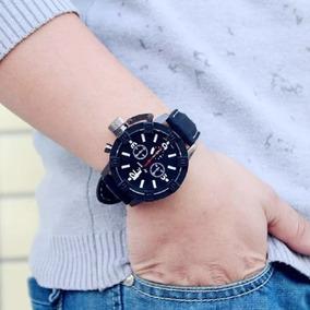 Relógio Masculino Speed V6 Barato Pulseira Couro Sintético