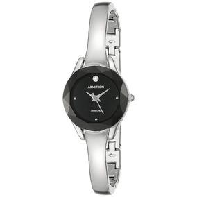 Reloj Mujer Armitron Original Plata-negro Ultima Pz Oferta!