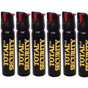 6 Gas Pimienta Spray Lacrimogeno Alta Seguridad Defensa