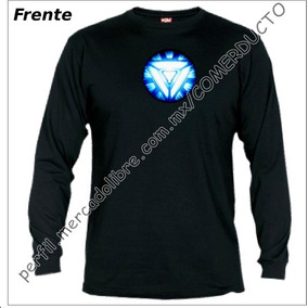 Playera Iron Man Manga Larga Reactor 2 Stark Industries Yjkl