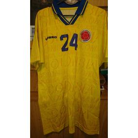 Camiseta Seleccion Colombia Mundial 1998 - Camisetas en Mercado ... 98e59ec770266