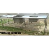 Mesas De Inox Para Cozinha Industrial Usada Para Venda Usado No