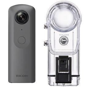 Câmera 360 Ricoh Theta V 4k Kit + Case Mergulho 30m