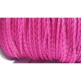 Couro Sintetico Trançado Rosa Pink 3mm Fluorescente 20 Mtrs