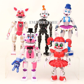 Kit 5 Bonecos Five Nights At Freddys - Circus Baby, Ballora