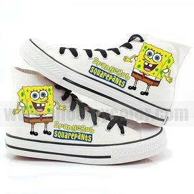 Zapatos Bob Esponja 2 Marca Collec Diseño Hecho A Mano