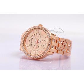 d36e56a2a7c Relogio Geneva Feminino Rose - Relógio Feminino no Mercado Livre Brasil