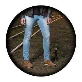 Calça Masculina Skinny Com Lycra Varias Cores Padrão Premium