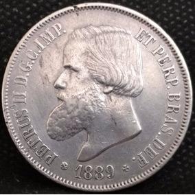 Moeda 2 000 Réis Império 1889 Mbc+ --- 002