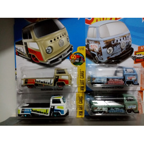Lote C/ 04 T2 Kombi Pick Up Hot Wheels 1/64
