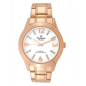 4e1a16cccb7 Relógio Champion Feminino Rosê Redondo Passion Cn28713z - Relógios ...