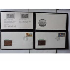 Brasil Medalhas Fdc Literatura Cordel Bronze 1986 Fc