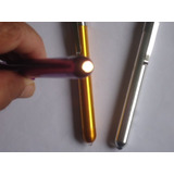 2 Lanterna Caneta Led Medicina Saude Cor Prata Dourada Lilaz