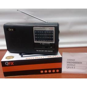 Radio Multibanda Am-fm-sw1-sw2 Qfx 0694