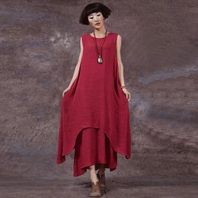 03b7f73909 Vestido Informal De Mujer Suelta Con Cuello Redondo