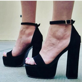 Plataformas Zapatos Gamuza Azul Negro Celeste - Zapatos de Mujer en ... be834452eec7