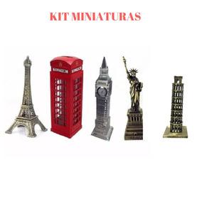 Torre Eifel + Cabine Londres + Big Ben + Estatua+ Torre Pisa