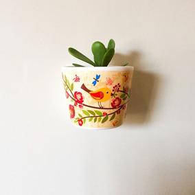 Vaso Decorativo (passaros) C/ Imãs