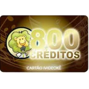 Cartão Pré-pago 800 Créditos P/ Ivideokê