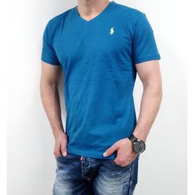 8ad32172f733b Camiseta Cuello En V Azul Polo By Ralph Lauren Talla Small - Ropa y ...