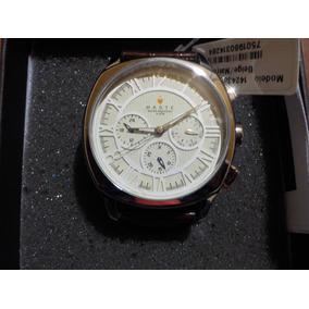 Reloj Para Hombre Haste 142427652 Redondo Beige Y Marron