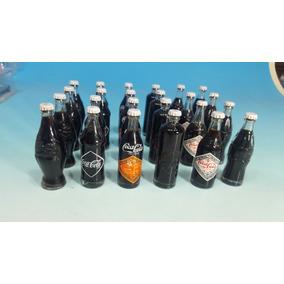 Coca - Cola Botellas En Miniatura Lote De 24 Unidades