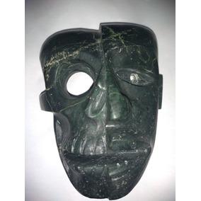 Mascara De Piedra Verde, Artesania Prehispanica, Mexicaca
