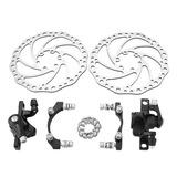 Par De Mecánica Disco Rotor Freno Kit Montaña Bicicleta