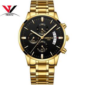 Relógio Nibosi Masculino Original Luxo Todo Funcional Oferta