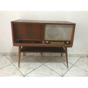 Vitrola Serenata Antiga, Rádio E Vinil Década De 40