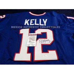 08e3de471fb3a Jersey Firmado En Persona Por Jim Kelly Buffalo Bills