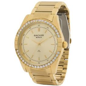 8dc5ec06cfc Relógio Backer Feminino Em Aço - Relógios De Pulso no Mercado Livre ...