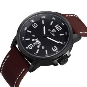 73e57d6a6ae Pulseira Couro Skone Relogio - Relógios no Mercado Livre Brasil