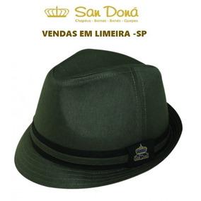 Chapeu Fedora Verde Escuro - Acessórios da Moda no Mercado Livre Brasil 73dc7739acc