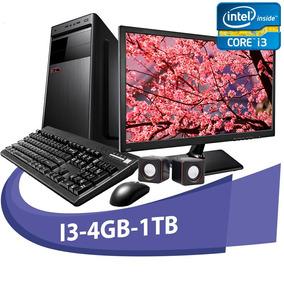 Computador Micro Rio I3 4gb Hd 1tb + Kit+ Monitor De 15