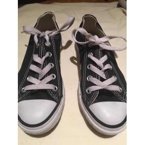 0f6b4e4b2 Zapatillas All Star Converse Negras Niño Niña Talle 29