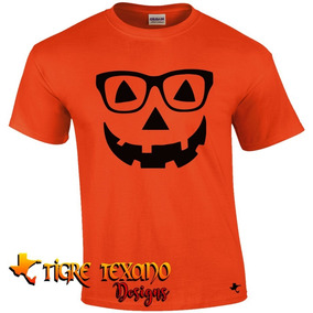 Playera Halloween Calabaza Mod. 11 By Tigre Texano Designs