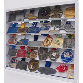 Quadro De Medalha Branco Porta Medalha 60 Ou 30 Medalhas Mdf