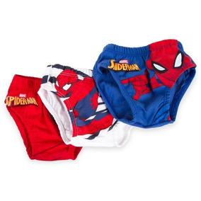 Set De 3 Trusas Para Niño Spiderman 4/6/8/10 /12 Años