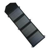 Cargador Portátil Bolso Solar 4 Paneles 4 Amperes Usb 77 Cm