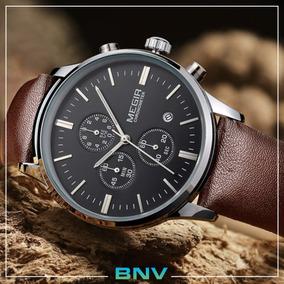 b94dd5afc57 Megir 3789 Com Pulseira De Couro Genuíno - Relógios De Pulso no ...