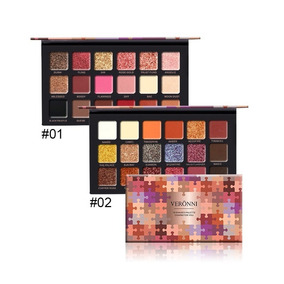 Kit 2 Paletas - Paleta De Sombras Veronni Rose Gold Edition