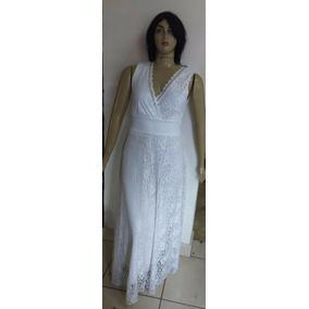 Vestido, Renda Longo, Decote Trespassado Plus Size