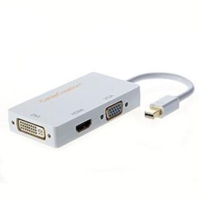 Adaptador Convertidor Mini Displayport A Hdmi Vga Dvi Mac